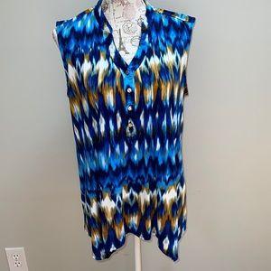 Cocomo XL Tie Dye Sleeveless Blouse